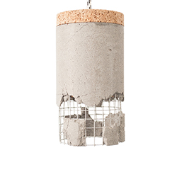 Ubikubi Slash-Lamp-Grey concrete