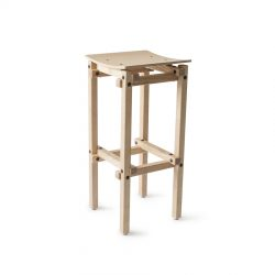 900 x 900 Fair and Square Bar Stool Perspectiva
